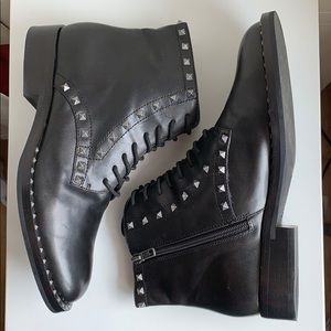 🍁 ASH NEW! Studded Combat Boot, Black Leather